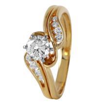 Milady Swirl Diamond 14KT Yellow Gold Fancy Engagement Ring - #366