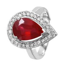 NEW Gorgeous Diana 5.14ctw Ruby and Diamond 14KT White Gold Cocktail Ring - #1512