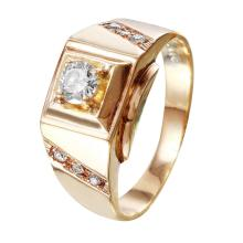 Triumph Diamond 10KT Yellow Gold Square Ring - #137