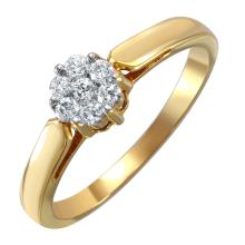 NEW Intriguing Brilliant Diamond 18KT Yellow Gold Ring - #1586