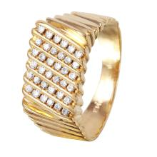 Gent's Poseidon Diamond 14KT Yellow Gold Ring - #1087
