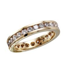 NEW Sparkling 2.02ctw Diamond 14KT Yellow Gold Eternity Wedding Band - #1673