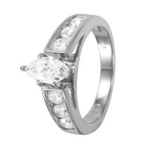 Cathedral Marquise 1.60ctw Diamond 14KT White Gold Engagement Ring - #1115