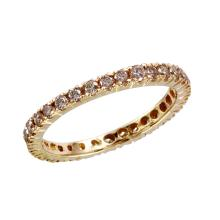 Sought-After Classsic Brilliant Diamond 14KT Yellow Gold Eternity Band - #1680