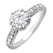 Breathtaking 1.02ctw Brilliant Diamond Platinum Custom Cast Engagement Ring - #1572