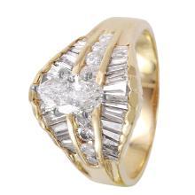 Impressive Luxury 4.29ctw Diamond 14KT Yellow Gold Engagement Ring - #1173