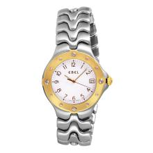 Gent's Elegant Authentic Designer Ebel Sportwave Stainless Steel Two Tone Watch - #1379
