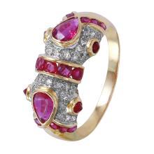 Splendor 2.02ctw Ruby and Diamond 18KT Yellow Gold Ring - #1395