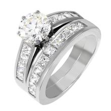 Beautiful Matching Platinum 2.44ctw VS-F Quality Diamond Engagement Ring and Wedding Band Set - #1828