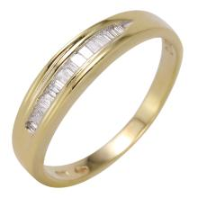 Ladies Sleek Channel Baguette Diamond 14KT Yellow Gold Band - #451