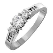 14KT White Gold 0.53ctw Diamond Engagement Ring - #1763