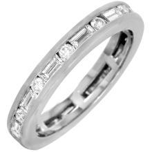 Platinum 0.77ctw Diamond Eternity Ring