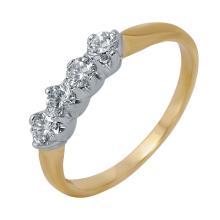 14KT Yellow Gold Vintage Style 0.40ctw Diamond Wedding Band