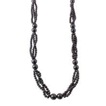 Ladies 675.00ct Hematite Beaded Necklace