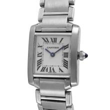 Genuine Authentic Ladies CARTIER Tank Francaise  Stainless Steel Watch - #83
