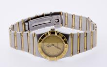 Ladies Sleek Authentic Omega Constellation18KT Yellow Gold and Stainless  Watch - #883A