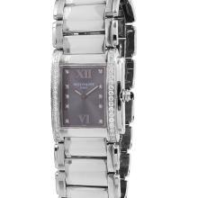 Ladies Genuine Authentic Designer Patek Twenty-Four Stainless Steel  Diamond Watch - #1360