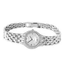 Genuine Authentic Designer Geneve 14KT White Diamond Gold Watch - #259