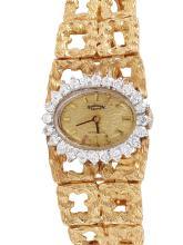 Ladies Fine Exclusive Authentic Designer Geneve Incabloc 1.01ctw Diamond Watch - #818