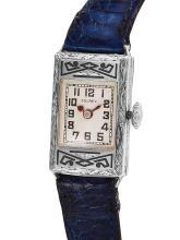 Ladies Gorgeous Sleek Authentic Designer Solrex 14KT White Gold Mechanical Watch - #1390