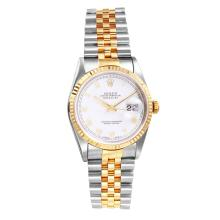Collectors Authentic Rolex Date Just Two Tone Ref. 16233 with Jubilee Bracelet Circa 2002 - #1225