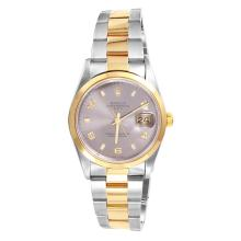 Gent's Selective Authentic Designer Rolex Date Two Tone Ref. 15203 with Slate Dial & Oyster Bracelet Circa 2000 - #1217
