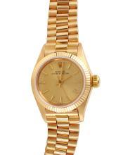 Ladies Elegant Authentic Rolex Presidential Ref: 6719 - 18KT Yellow Gold Watch - #837