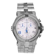 Gent's Authentic Designer Renato Chronograph 2.45ct G/VS Diamond Stainless Steel Watch - #1228
