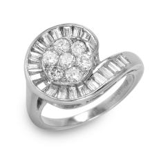 Platinum 0.65ctw Diamond Ring