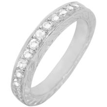 Platinum 0.32ctw Diamond Wedding Band