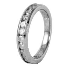 Platinum 0.43ctw Diamond Wedding Band