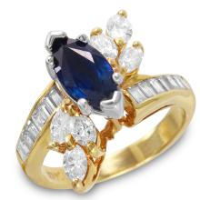 Mimosa 2.52ctw Sapphire and Diamond 14KT Yellow Gold Channel Ring