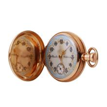 Authentic Vintage 14KT Yellow Gold American Watch Company Hunter Case Pocket Watch - #602