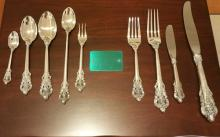 Heirloom Quality Wallace Grande Baroque Sterling Silver Service for 12 - #1310