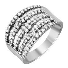 Radiant 3.01ctw Multi Row Diamond 18KT White Gold Band - #999
