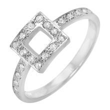 Ladies Genuine Authentic Designer Tiffany and Co. 0.27ctw Diamond Platinum Ring - #436