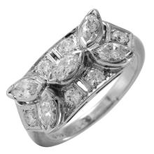 Ladies Gleaming Platinum 1.60ctw Mixed Cut Diamond Ring - #39