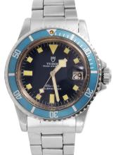 Gent's Collectable Rare Vintage Authentic Designer Tudor Snowflake Prince Oysterdate Submariner Watch - #1017