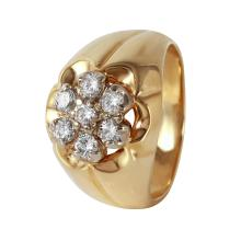 Gent's Triumph Cluster Diamond 10KT Yellow Gold Ring - #490A