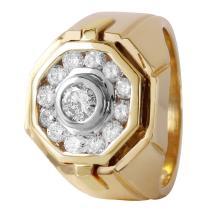Gent's Majestic 1.02ctw Diamond 14KT Yellow Gold Ring - #382