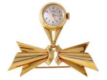 Ladies Universal Geneve Vintage Style 14KT Yellow Gold Nurses Brooch Watch