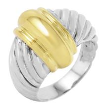 Beautiful Genuine Authentic Designer David Yurman 18KT Yellow Gold and Sterling Silver Ring