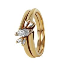 Artistic Sparkling Diamond 14KT Yellow Gold Wedding Ring - #482A