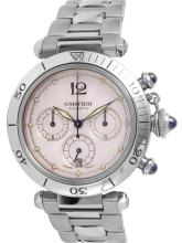 Sleek Exclusive Authentic Cartier Ref. 2113 Pasha Stainless Steel Chronograph Watch - #1007
