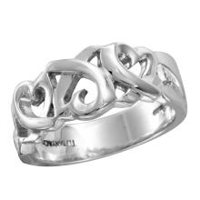 Tiffany & Co. Sterling Silver Paloma Picasso Size 8 Loving Heart Ring - #1758