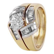 Beautiful 1.50ctw Channel Diamond 14KT Yellow Gold Wedding Ring - #438A