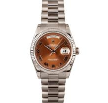 Gents Rolex 18KT White Gold Presidential Day Date Wristwatch