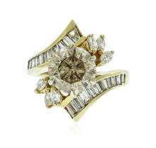 14KT Yellow Gold 4.51 ctw Brilliant Cut Diamond Ring