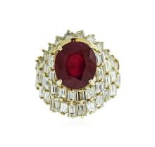 14KT Yellow Gold 6.78 ctw Ruby and Diamond Ring