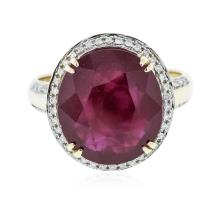 14KT Yellow Gold 8.66 ctw Ruby and Diamond Ring